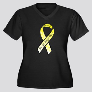 Dogo RibbonC Women's Plus Size V-Neck Dark T-Shirt
