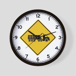 Logging Truck Warning, Australia Wall Clock