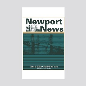 Newport News 2 Rectangle Sticker