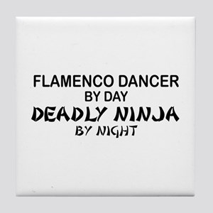 Flamenco Dancer Deadly Ninja Tile Coaster