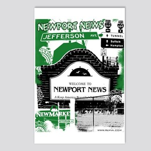 Newport News 3 Postcards (Package of 8)