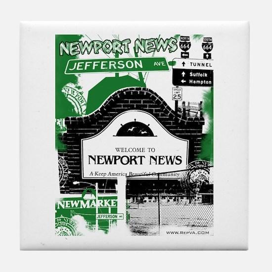 Newport News 3 Tile Coaster