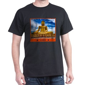 Visit Laos - Large Golden Buddha T-Shirt