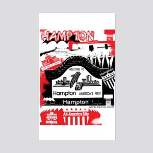 Hampton 2 Rectangle Sticker
