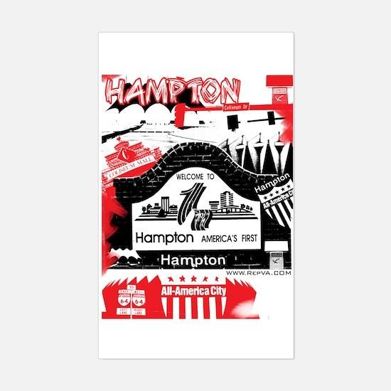 Hampton 2 Rectangle Decal