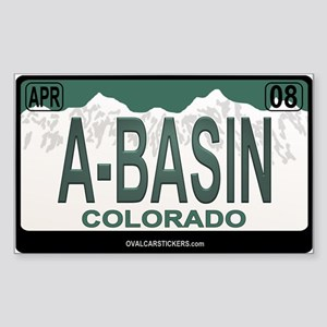 A-Basin Plate Rectangle Sticker