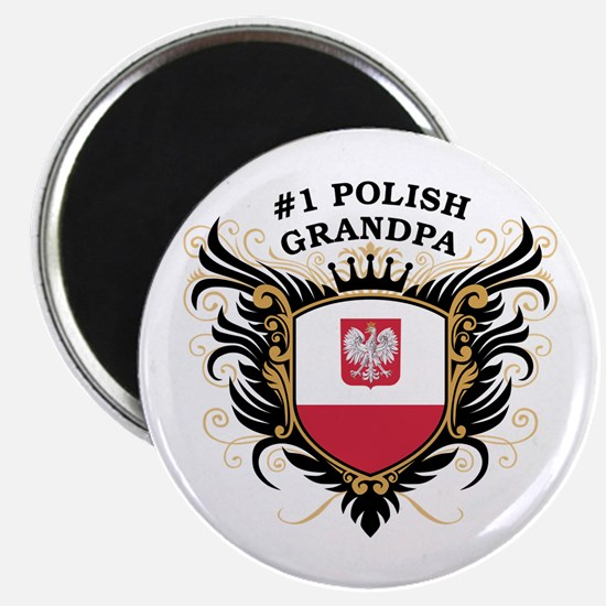 Number One Polish Grandpa Magnet