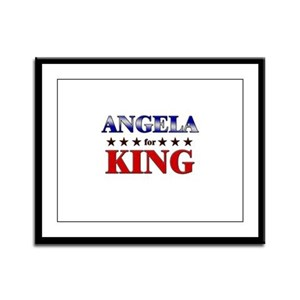 ANGELA for king Framed Panel Print