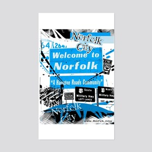 Norfolk 2 Rectangle Sticker