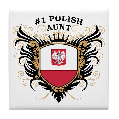 Number One Polish Aunt Tile Coaster