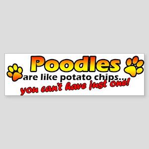 Potato Chips Poodle Bumper Sticker