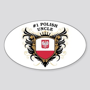 Number One Polish Uncle Oval Sticker