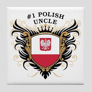 Number One Polish Uncle Tile Coaster