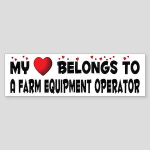 Belongs To A Farm Equipment Operator Sticker (Bump