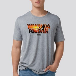 Black Panther Wakanda Forev Mens Tri-blend T-Shirt