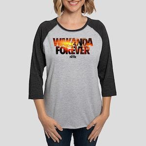 Black Panther Wakanda Forever Womens Baseball Tee