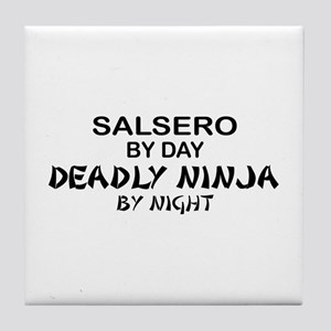 Salsero Deadly Ninja by Night Tile Coaster