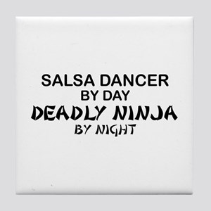 Salsa Dancer Deadly Ninja by Night Tile Coaster