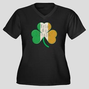 The Erin Go Braugh Irish Shamrock Women's Plus Siz