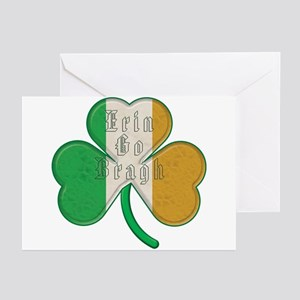 Erin go bragh greeting cards cafepress the erin go braugh irish shamrock greeting cards m4hsunfo
