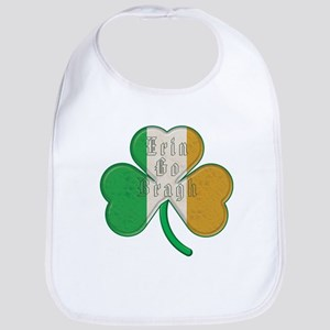 The Erin Go Braugh Irish Shamrock Bib