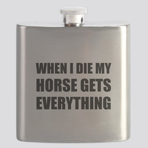 When I Die My Horse Gets Everything Flask