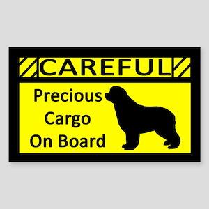 Precious Cargo Newfoundland Sticker (Rect)