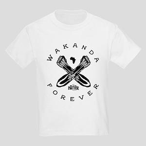 Black Panther Wakanda Forever Kids Light T-Shirt