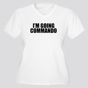 Im Going Commando Women's Plus Size V-Neck T-Shirt