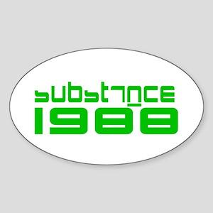 substance 1988 Sticker (Oval)