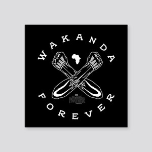 "Black Panther Wakanda Forev Square Sticker 3"" x 3"""