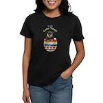 Easter Rottweiler Women's Dark T-Shirt