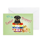 Easter Rottweiler Greeting Cards (Pk of 10)