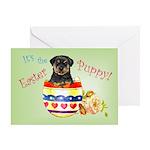Easter Rottweiler Greeting Card