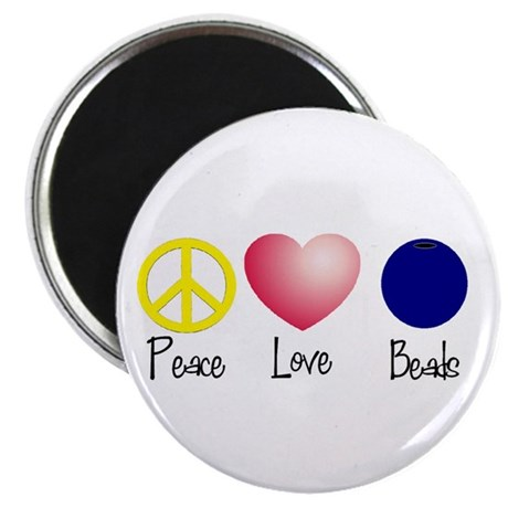 """Peace, Love, Beads 2.25"""" Magnet (100 pack)"""
