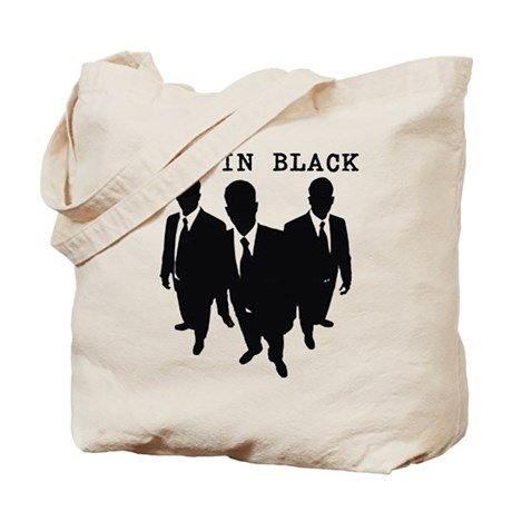 Men in Black Plain Tote Bag
