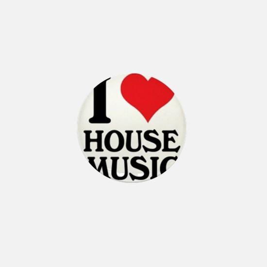 I Love House Music Mini Button