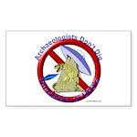 Archs Don't Dig Dino Or UFO'S Sticker (Rectangular