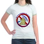 Archs Don't Dig Dino Or UFO'S Jr. Ringer T-Shirt