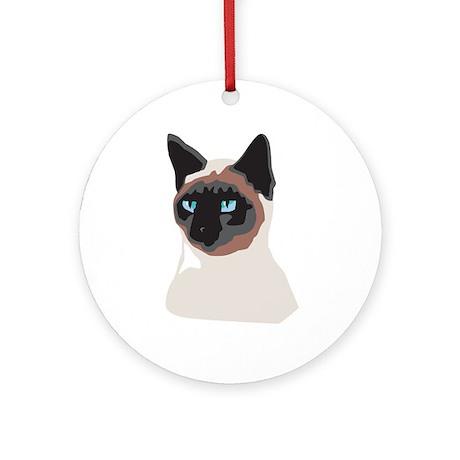 Blue-Eyed Kitty Ornament (Round)
