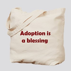 Blessing (maroon writing) Tote Bag