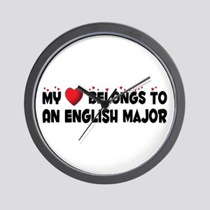 Belongs To An English Major Wall Clock