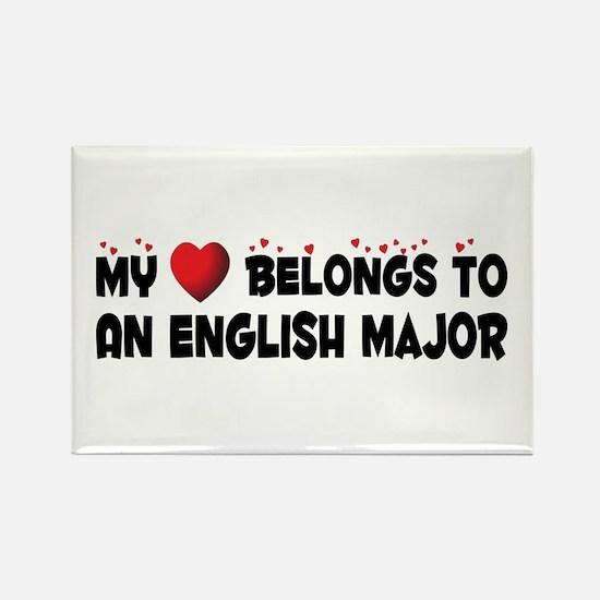 Belongs To An English Major Rectangle Magnet