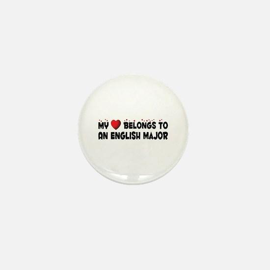 Belongs To An English Major Mini Button