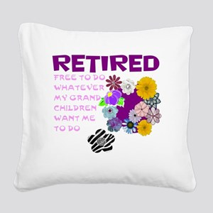 Retired Square Canvas Pillow