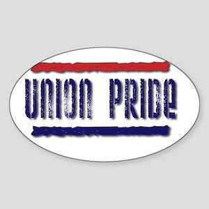 UNION PRIDE 2 Oval Sticker