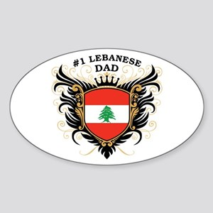 Number One Lebanese Dad Oval Sticker
