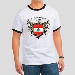 Number One Lebanese Dad Ringer T