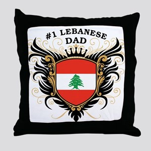 Number One Lebanese Dad Throw Pillow
