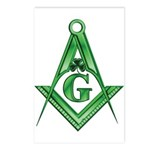 Masonic Shamrock Postcards (Package of 8)